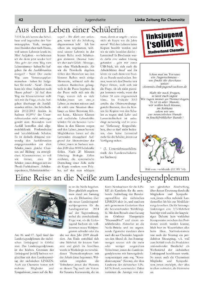 Aus dem Leben einer Schülerin | Linksjugend [\'solid] Chemnitz